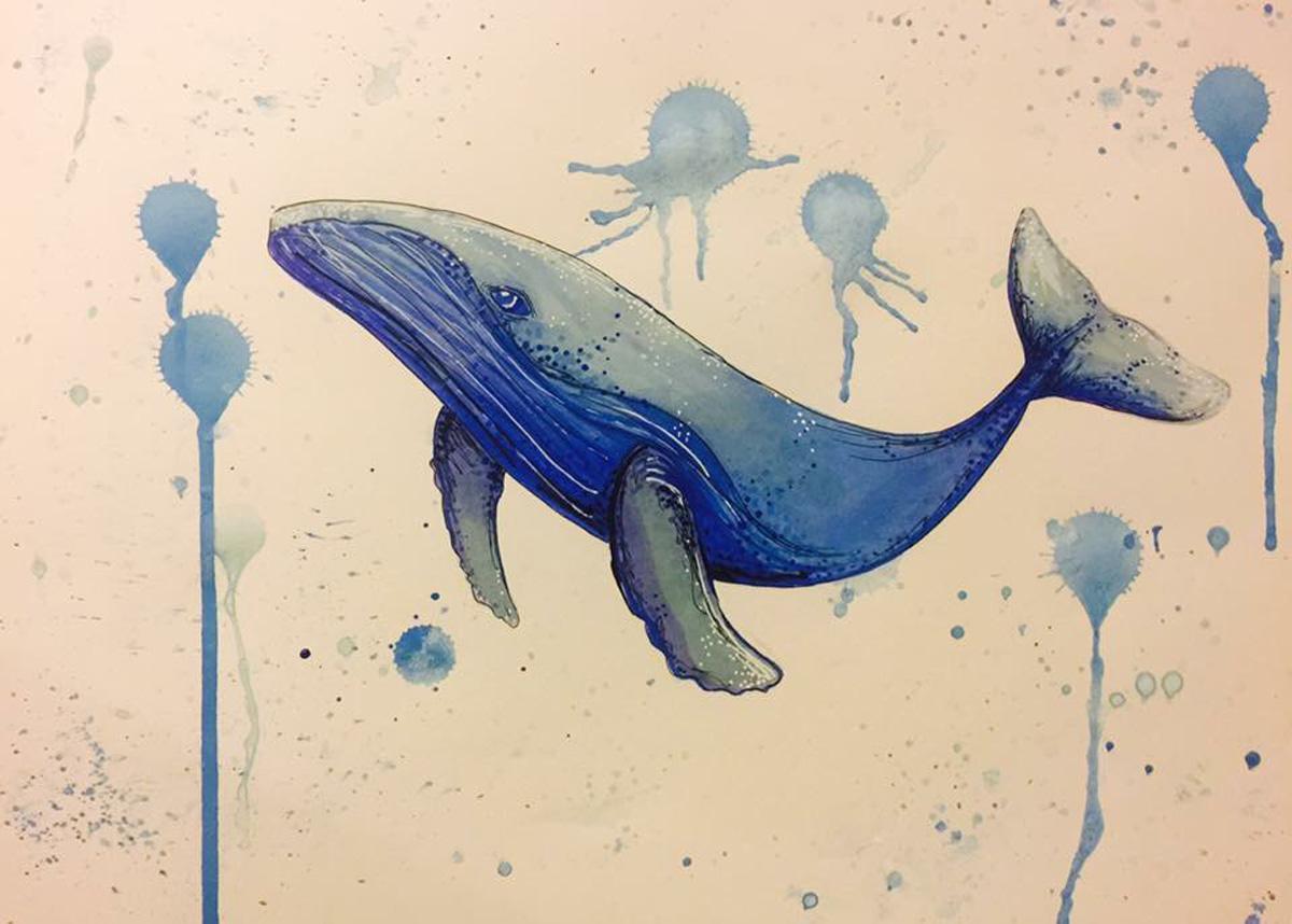 Blue Whale by Nikki Zarate